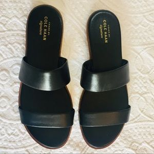 Cole Haan Signature Black Two Strap Findra Sandal
